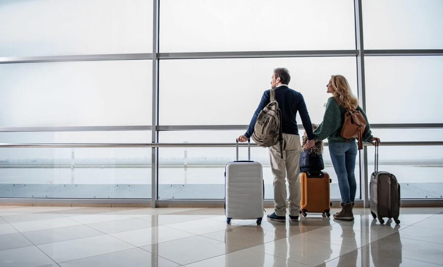 Couple on airport