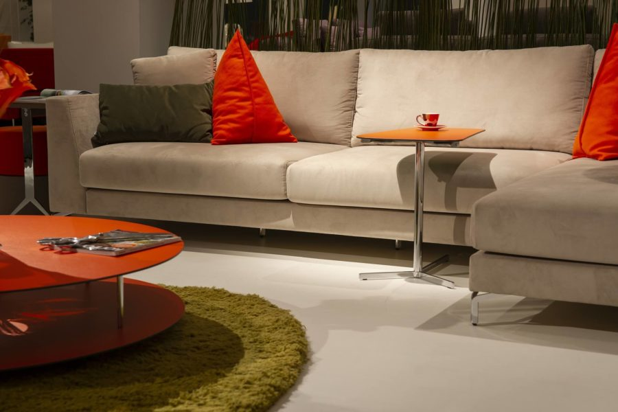 living room with a couch