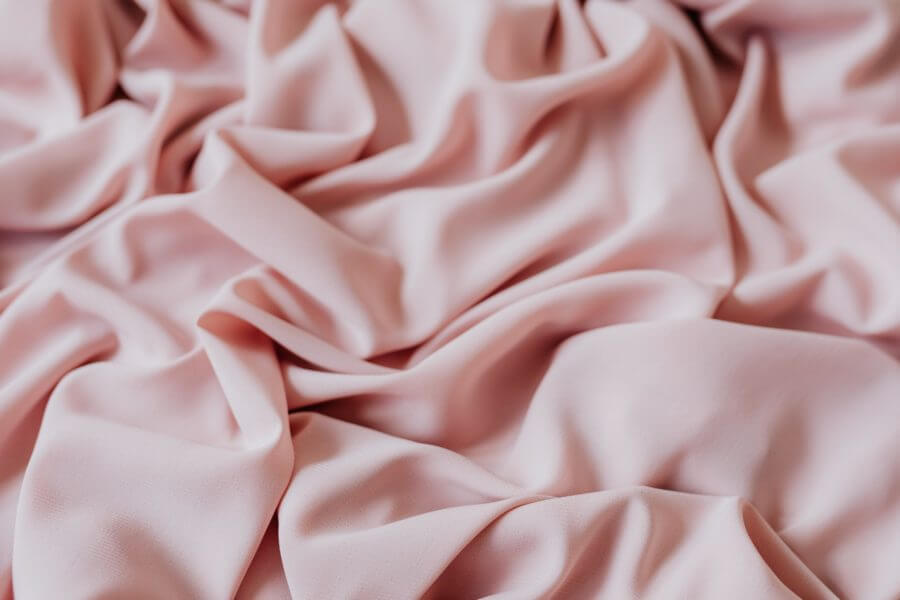 Pink luxurious polyester